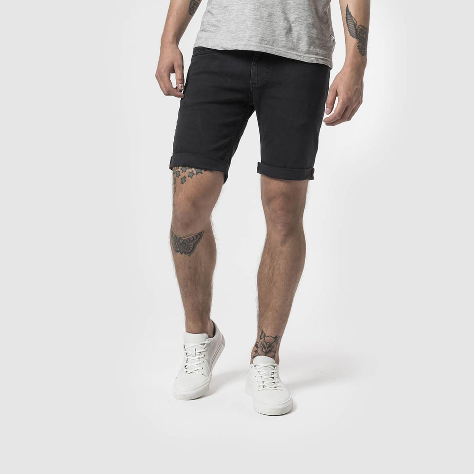 Kent Black Denim Shorts - Saint Street