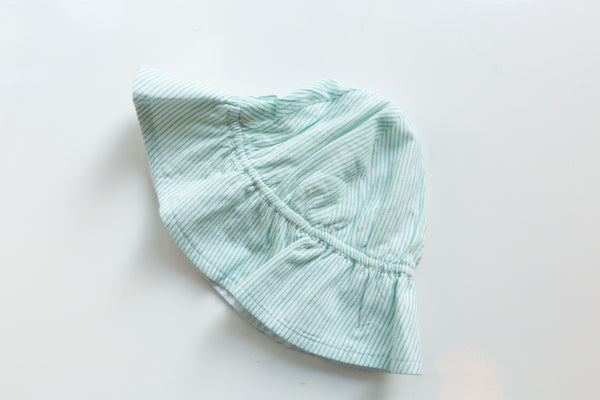Blue Stripped Sun Hat