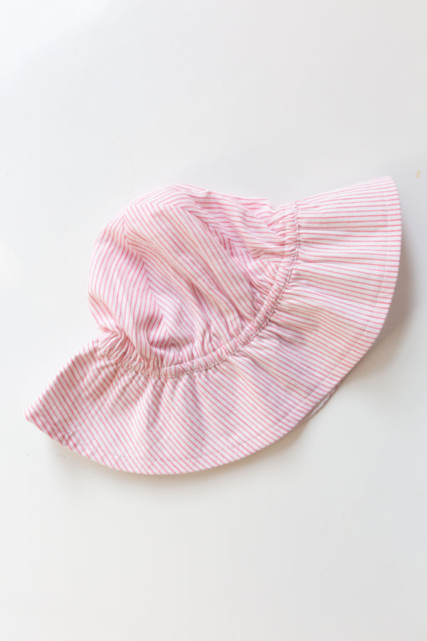 Pink Striped Sun Hat