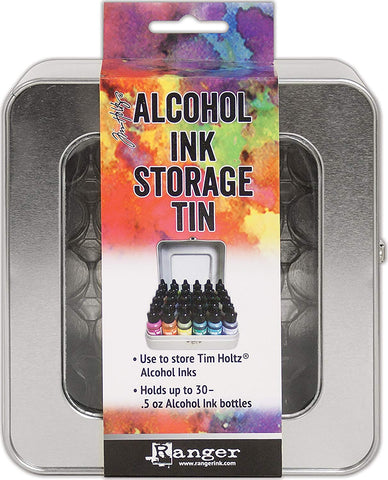how to store and organize alcohol inks Ranger Tim Holtz Alcohol Ink Storage Tin