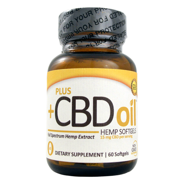 Plus CBD Oil Gold Formula Softgels - 900mg