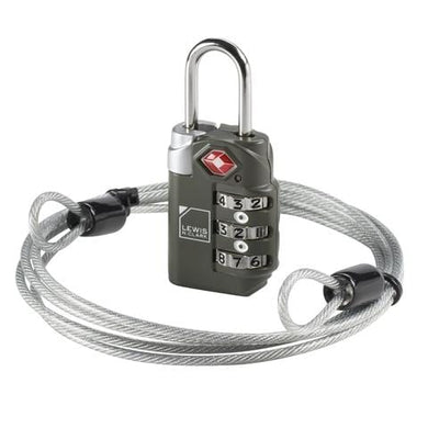 COMBINATION LOCK WITH CABLE