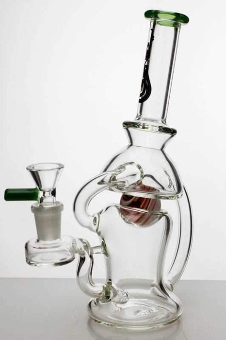 "9"" genie marble inserted and recycled bubbler - Bong outlet Canada"
