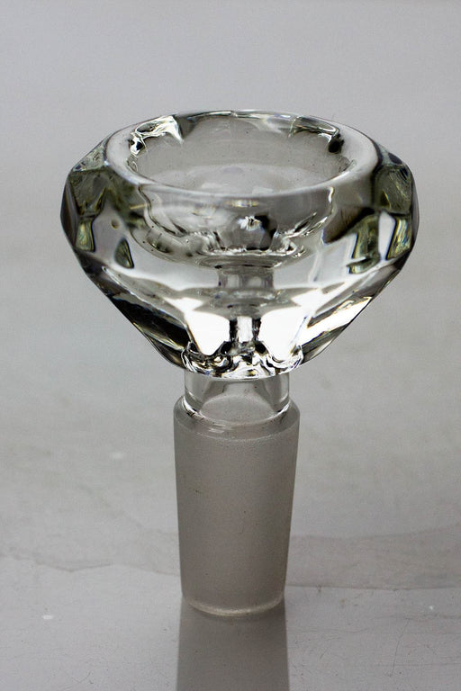 Diamond cutting shape wide glass bowl - Bong outlet Canada