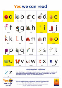 Yes We Can Read: Alphabet Poster