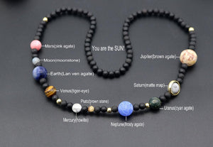 Handmade Solar System Natural Gemstone Necklace Necklace Supply and Vibe