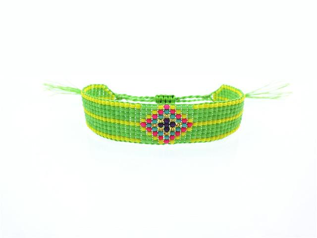 Handmade Beaded Friendship Bracelets - Buy One Get One FREE - Use Promo Code Buy1Get1 Bracelet Supply and Vibe Green