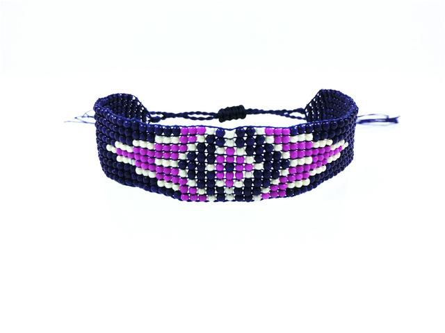 Handmade Beaded Friendship Bracelets - Buy One Get One FREE - Use Promo Code Buy1Get1 Bracelet Supply and Vibe Purple