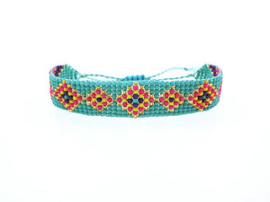 Handmade Beaded Friendship Bracelets - Buy One Get One FREE - Use Promo Code Buy1Get1 Bracelet Supply and Vibe Turquoise Pink