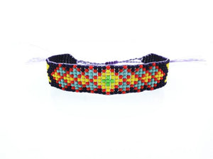 Handmade Beaded Friendship Bracelets - Buy One Get One FREE - Use Promo Code Buy1Get1 Bracelet Supply and Vibe Purple Yellow Blue