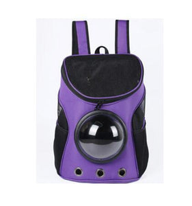Breathable Space Capsule Shaped Backpack For Dogs & Cats Backpack Supply and Vibe purple 35x31x25cm