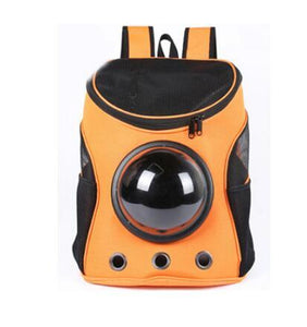 Breathable Space Capsule Shaped Backpack For Dogs & Cats Backpack Supply and Vibe orange 35x31x25cm
