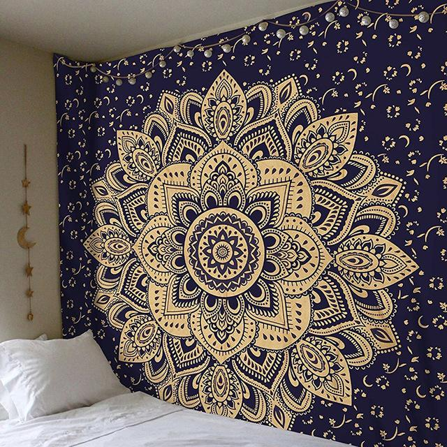 Meditation & Yoga Room - Bohemian Style Wall Tapestry Wall Decor Supply and Vibe 7 150x150cm United States