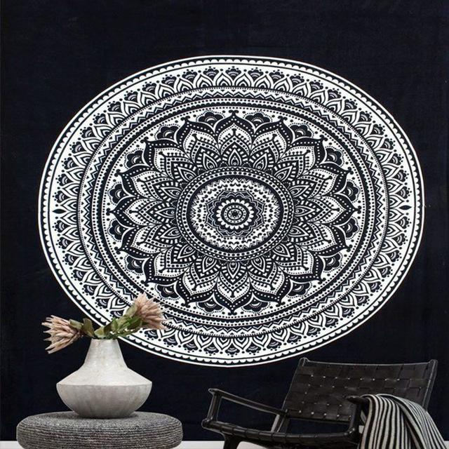 Meditation & Yoga Room - Bohemian Style Wall Tapestry Wall Decor Supply and Vibe 10 150x150cm United States