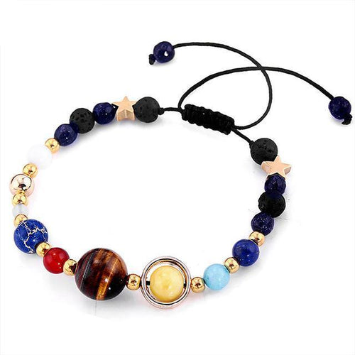 New! Universe Inspired Planet Bracelet - Easily Adjustable Bracelet Supply and Vibe With Bangles