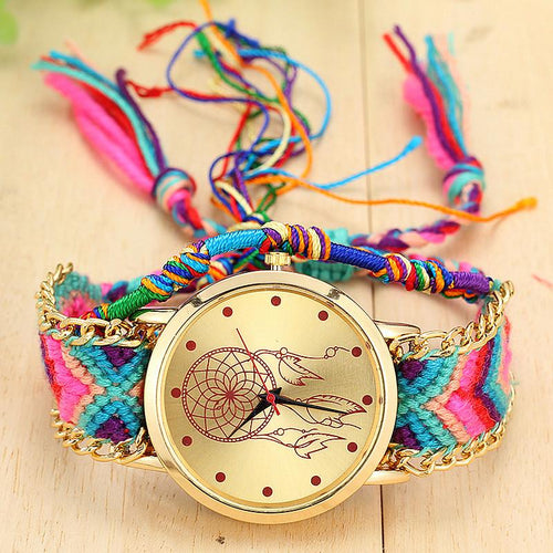 New Arrival! Handmade Braided Dream Catcher Friendship Bracelet Watch watch Supply and Vibe