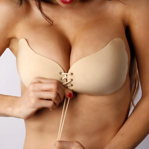 Invisible Push Up Strapless Bra women's fashion Supply and Vibe Nude A United States