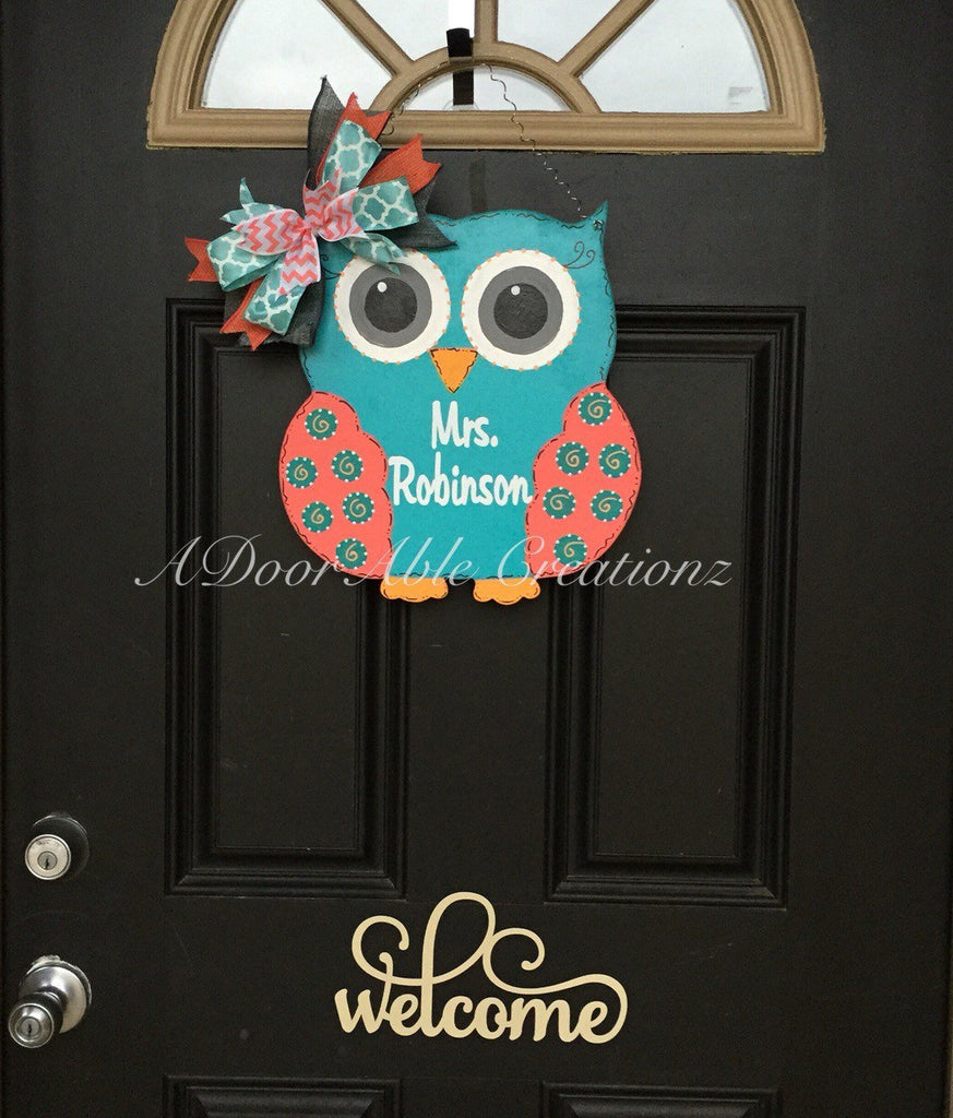 Teacher Owl Door Hanger - Simply Adorable Creations