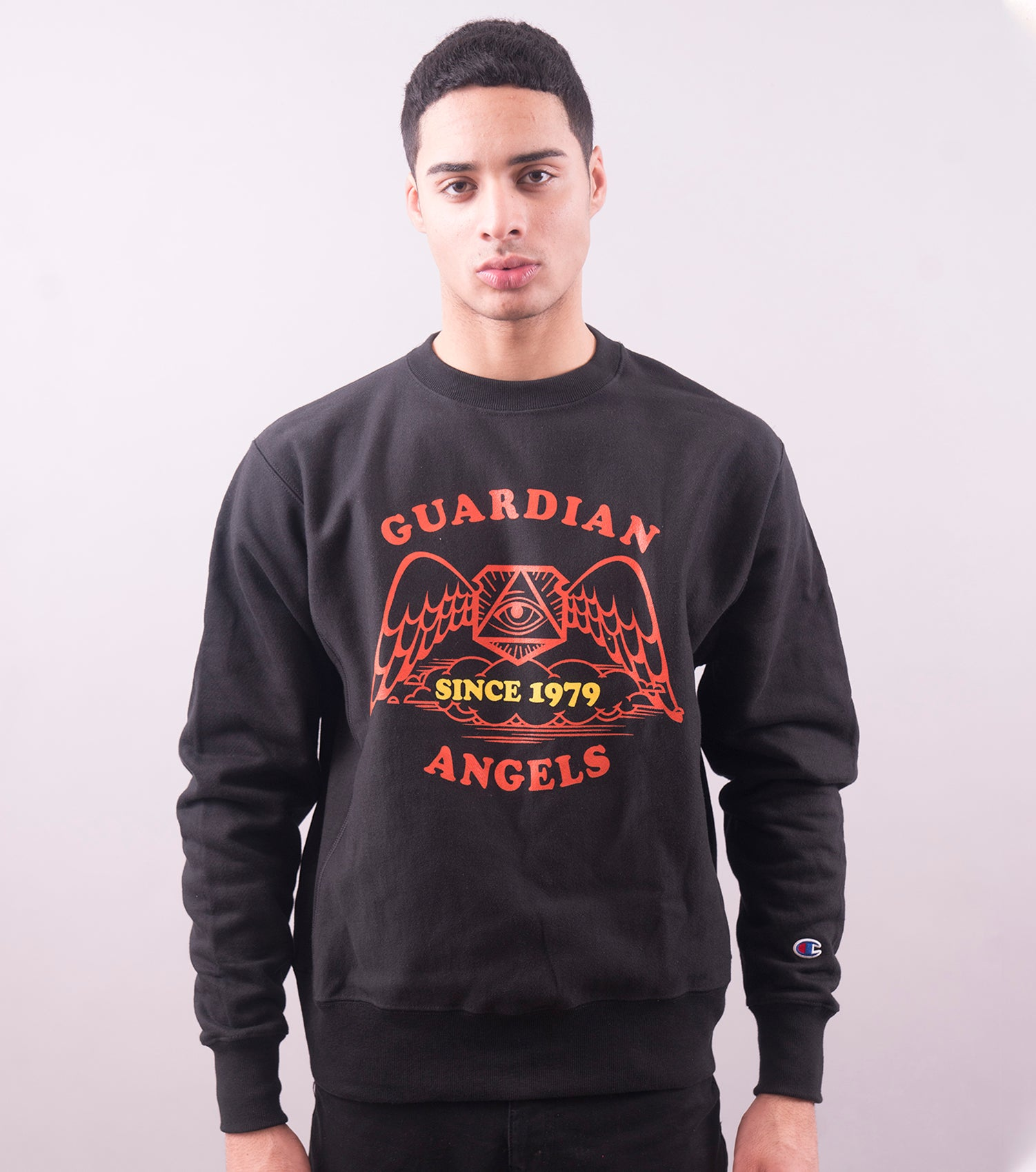 Vintage Guardian Angels Sweatshirt (Black)