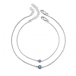 sterling silver, blue sapphire