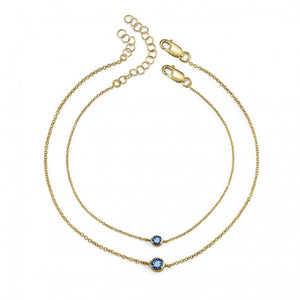 blue sapphire, yellow gold