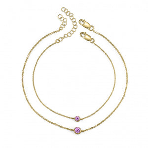 yellow gold, pink sapphire