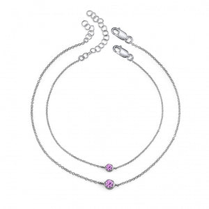 sterling silver, pink sapphire