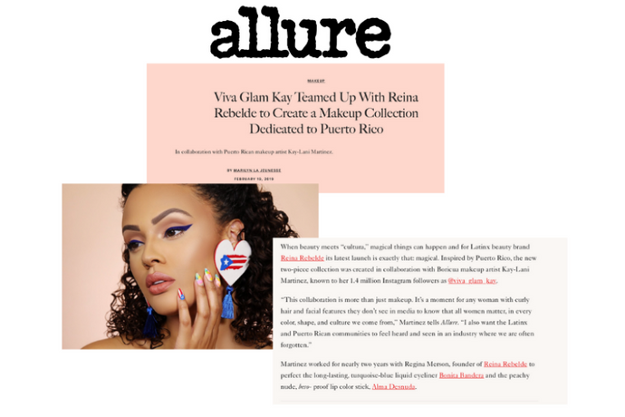 Allure: Viva Glam Kay Teamed Up With Reina Rebelde to Create a Makeup Collection Dedicated to Puerto Rico