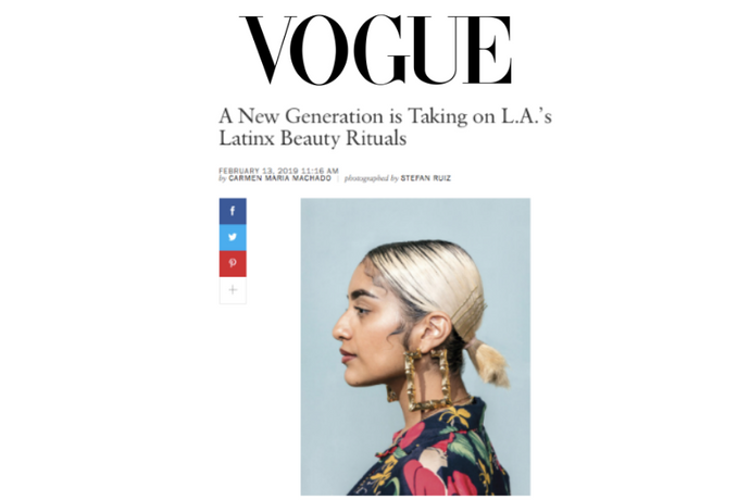 Vogue: A New Generation is Taking on L.A.'s Latinx Beauty Rituals