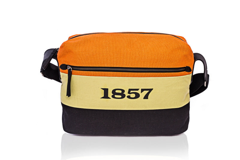 Canvas & Leather Messenger Bag by 1857 - The Leather Boutique