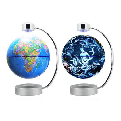 8 Inch Magnetic Levitation Globe With LED Light Electronic Floating  constellation Home Bedroom Study Room  US EU UK AU Plug