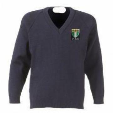 Friern Barnet Navy Knitted Jumper with Logo