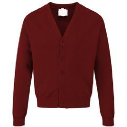 St Joseph's Burgundy Sweatcardigan with Logo