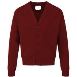 Darley Churchtown Classic Burgundy Sweatcardigan with Logo