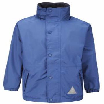 Flore Pre School Royal Storm Dry Jacket with Logo