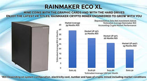 MINE COINS WITH THE GRAPHIC CARDS AND WITH THE HARD DRIVESENJOY THE LATEST VR TITLES, RAINMAKER CRYPTO MINER ENGINEERED TO GROW WITH YOU