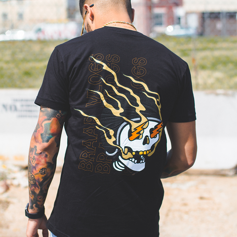 Braap Vlogs Skull T-Shirt (Black)