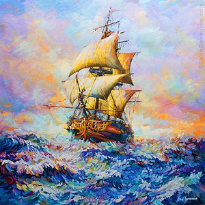 ship art, boat art, ship painting,