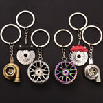 Keychain Bundle: Turbo, Wheel, and Brake - Boosted Auto