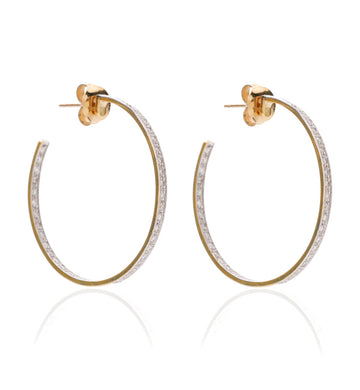 BARBARELLA COLLECTION GOLD AND DIAMONDS EARRINGS