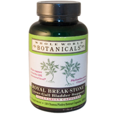 Whole World Botanicals, Royal Break-Stone, Liver-Gall Bladder Support, 400 mg, 120 Vegetarian Capsules