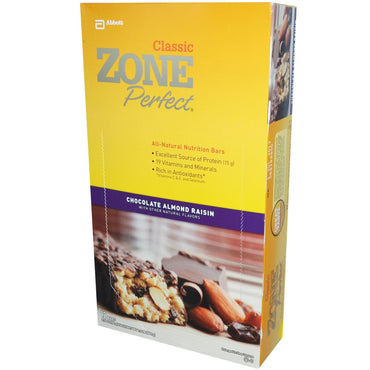 ZonePerfect Classic All-Natural Nutrition Bars Chocolate Almond Raisin 12 Bars 1.76 oz (50 g) Each
