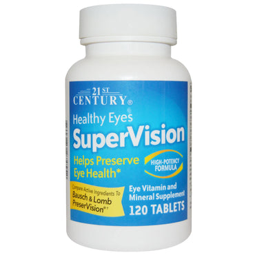 21st Century Healthy Eyes SuperVision High-Potency Formula 120 Tablets