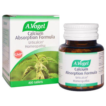 A Vogel, Calcium Absorption Formula, Urticalcin Homeopathic, 400 Tablets