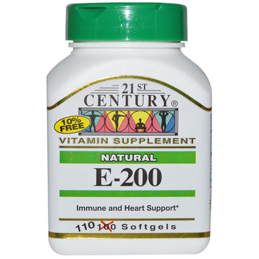21st Century, E-200, Natural, 110 Softgels