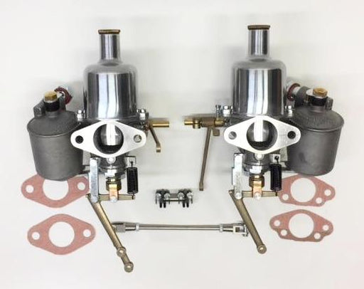 MG TC SU H2 Complete Carburetors, set of 2, 1-1/4""