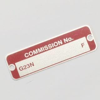 MGB Commission Number Plate, 62-69 RD