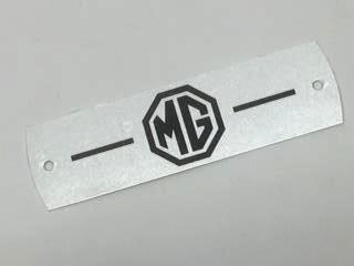 MG PLATE, on valve cover