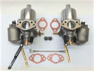 Complete Carburetors, set of 2, H4 1-1/2""