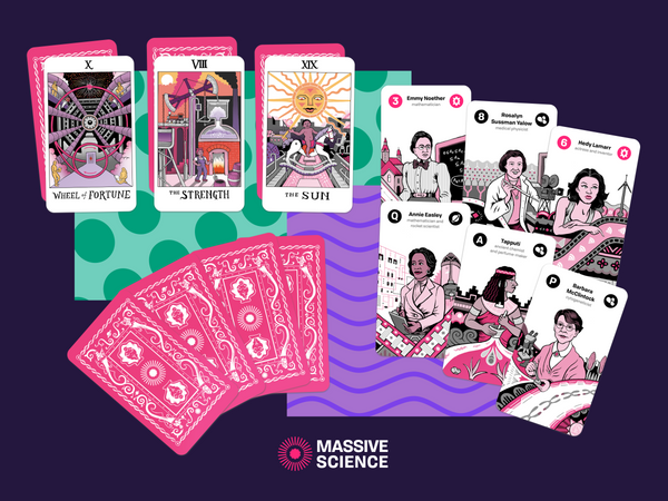 science tarot deck cards by Massive Science